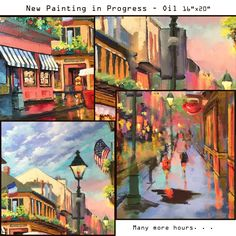 New French Quarter oil in the works!  A photo compilation while I'm at work.