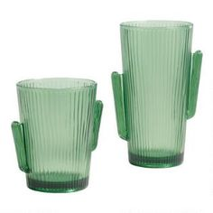 d81891c79f Green Cactus Figural Acrylic Cups Set of 6 - Short by World Market. Home ...
