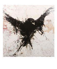 Drawn Crow ink splatter 3 - 236 X 283 Free Clip Art stock illustration Body Art Tattoos, New Tattoos, Tatoos, Corvo Tattoo, Nicolas Vanier, Rabe Tattoo, Ink Splatter, Splatter Tattoo, Aquarell Tattoos