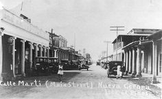 Calle Marti,años 30,Nueva Gerona,Isla de Pinos.