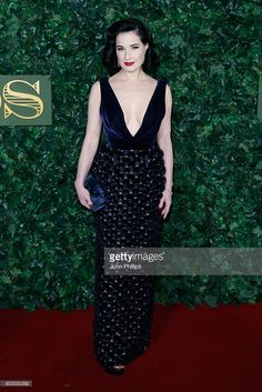 Dita Von Teese attends The London Evening Standard Theatre Awards at The Old Vic Theatre on November 13, 2016 in London, England.