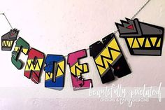 Power Rangers Dino Charge Birthday Name Banner Birthday