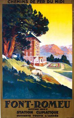 chemins de fer du midi - Font-Romeu - illustration de Champseix -
