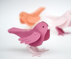 A cute (and free) dimensional paper bird to download and assemble