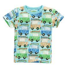 >> Click to Buy << 2017 New Style Baby Boys Cute T-shirt Kids Boy Short Sleeve Cartoon Car Print Tops #Affiliate