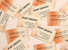 Diseño de las tarjetas de Punt Creatiu