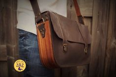 Beautifully designed in rich leather and hand polished wood, this distinctive unisex messenger bag add's artisanal charm to the classic carry all. Polished Wood, Unique Bags, Leather Bags Handmade, Leather Handbags, Messenger Bag, Satchel, Unisex, Classic, Fashion
