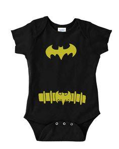 Batman Onesie  Baby Batman Costume by MyBabyLuxe on Etsy, $15.00 @BabyList Baby Registry Baby Registry Baby