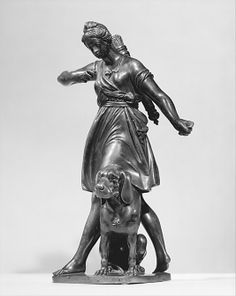 Barthélemy Prieur (French, ca. 1536–1611). Diana with a Hound, 1603–11. The Metropolitan Museum of Art, New York. Rogers Fund, 1909 (09.142.2) #dogs