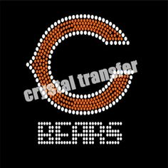 Chicago Rhinestone Transfers Bear Crystal Transfer