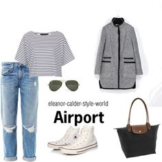 """Airport outfit"" by eleanor-calder-style-world on Polyvore"