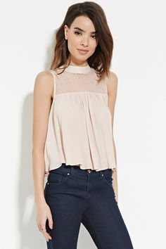 Contemporary Laced Yoke Top | Forever 21 - 2000181489