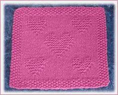 Valentine Dishcloth #free #knit #knitting #pattern #heart #freeknittingpattern
