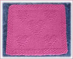 Valentine Dishcloth #free #knit #knitting #pattern #heart #freeknittingpattern