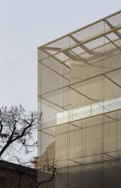 Image 7 of 16 from gallery of Kunsthalle Mannheim Building / gmp Architects. Photograph by Kunsthalle Mannheim / Lukac Diehl Building Skin, Building Facade, Building Design, Archi Design, Facade Design, Exterior Design, Metal Facade, Facade Architecture, Cladding