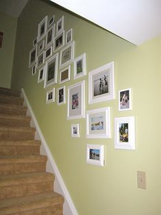 Picture frame gallery and how she decided what would go where