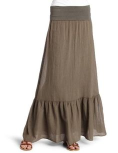 long linen skirt in army green :)