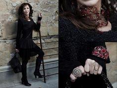 Dress, earrings, necklace, bracelets, and rings from Twigs. http;//www.twigs.ca Twigs Lookbook