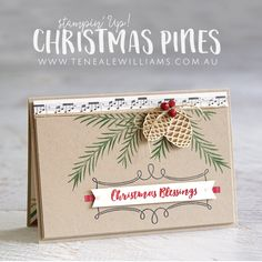 By Teneale Williams | Stampin' Up! Christmas Pines Photopolymer Stamp Set