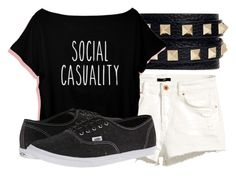 """""""Socially Awkward Doesn't Begin to Cover it."""" by owls-are-awesome ❤ liked on Polyvore featuring Valentino, H&M and Vans"""