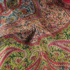 Bright orange embroidered silk shawl, handwoven in India. Silk Shawl, Embroidered Silk, Hand Weaving, Bright, Collections, Orange, Fashion, Moda, La Mode