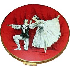 Cecil Golding Stratton Compact,Vaslav Nijinsky & Anna Pavlova Dancing in Les Sylphides