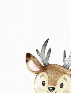 Woodland animal art - Watercolor deer print - Nursery wall art - Cute baby girl art - Watercolor nur for teenage girls room wall art Woodland animal art - Watercolor deer print - Nursery wall art - Cute baby girl art - Watercolor nursery - Baby room decor Watercolor Deer, Watercolor Paintings, Art Mignon, Deer Print, Art Print, Christmas Drawing, Baby Art, Woodland Animals, Woodland Nursery
