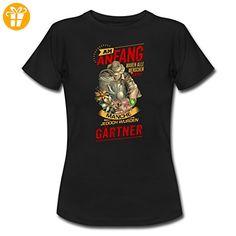 NEU Am Anfang Gärtner RAHMENLOS Shirt Geschenk Weihnachten Frauen T-Shirt von Spreadshirt®, XXL, Schwarz - Shirts zum 30 geburtstag (*Partner-Link)