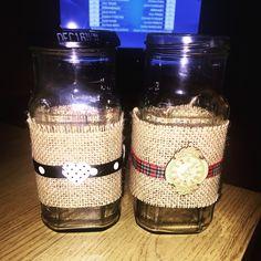 Homemade tealight holders