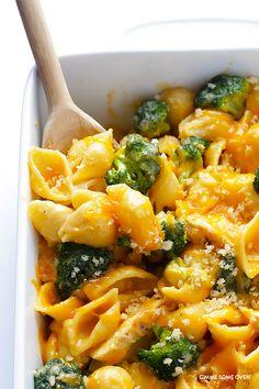 Broccoli Cheddar Chicken Mac and Cheese Recipe   gimmesomeoven.com