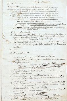 Interrogatoire de Camille Desmoulins et de Danton (12 germinal an II/1er avril 1794).