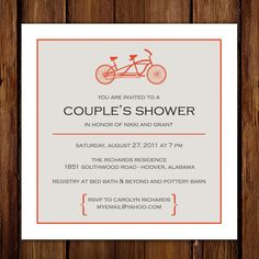 couple's shower, not a bridal shower. because the bride is shy and doesn't want everyone staring at her. lol...no seriously