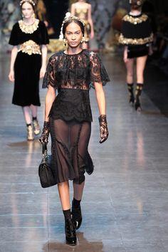 A/W 2012-2013 RTW: Dolce & Gabbana | Harper's BAZAAR