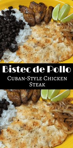Chicken Steak – Bistec de Pollo a la Plancha, in Spanish, is popular dish that's found in Cuban restaurants all over Miami. via @cook2eatwell