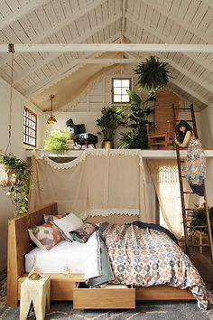 Oyster-Cut Storage Bed - anthropologie.com