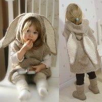 Geek | Girl's Sleeveless Hooded Poncho Fashion Cute Rabbit Ears Pullovers Cloak