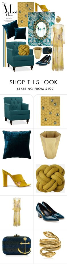 """Mood Board"" by cherieaustin ❤ liked on Polyvore featuring Pottery Barn, Momeni, Anthropologie, Tom Dixon, Gianvito Rossi, Emilio Pucci, Rupert Sanderson, Judith Leiber, Tom Ford and WALL"