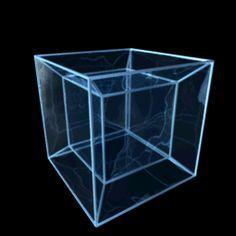Visual representation of the fourth dimension Quatrième Dimension, Fourth Dimension, The Tesseract, Interstellar, Cubism, Sacred Geometry, Geometry Art, Mathematics Geometry, Optical Illusions