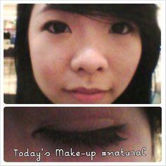 Natural make-up + Elise false lashes
