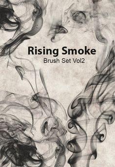 Free Rising Smoke Photoshop Brush Set Vol2