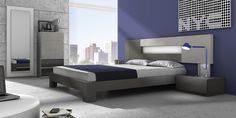 DORMITORIO 7. Dormitorio modular  de 240 cm de largo el cabecero y 286 cm de ancho las mesitas y el aro bañera.
