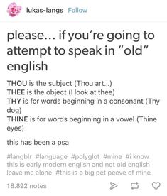 Old English writing tips