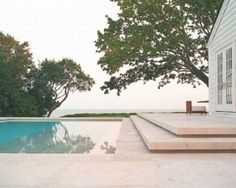 Another view of the pool of the Gabellini Sheppard designed East Hampton Residence.: