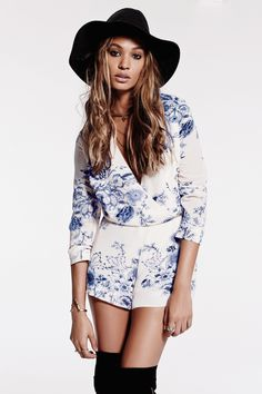 Free People White And Blue Floral Float Away Playsuit  # #Look And Love With Lolo #Summer Trends #Women's Fashionista #Best Of Summer Apparel #Free People #Playsuit Float Away #Float Away Playsuits #Float Away Playsuit White and Blue #Float Away Playsuit Free People #Float Away Playsuit Floral #Float Away Playsuit Clothing #Float Away Playsuit 2014 #Float Away Playsuit OOTD #Float Away Playsuit How To Style