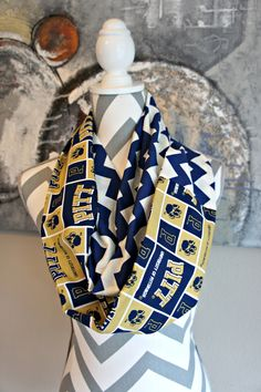 University of Pittsburgh PITT Panthers Chevron Infinity Scarf Women's Girl's NCAA Football by PinkPearBoutique on Etsy https://www.etsy.com/listing/252479907/university-of-pittsburgh-pitt-panthers