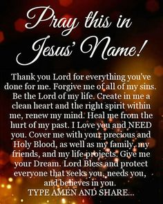 I pray this for myself and all of you - the world. In Jesus name we pray, Amen. Prayer Scriptures, Bible Prayers, Faith Prayer, God Prayer, Catholic Prayers, Prayer Quotes, Power Of Prayer, Faith In God, Bible Verses