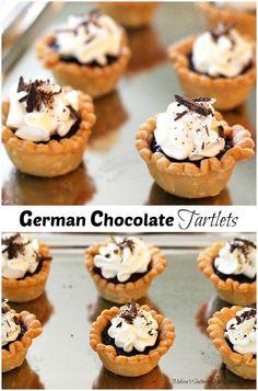 German Chocolate Tartlets