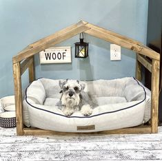 Pink Dog Beds, Cute Dog Beds, Puppy Beds, Cute Dogs, Cute Dog Stuff, Best Dog Beds, Dog Bed Frame, Wood Dog Bed, Diy Dog Bed