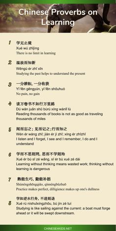 16 Chinese proverbs on Teaching and Learning - Get Inspired by the Chinese wisdom! The 16 inspirational Chinese proverbs on teaching and learning show you the Chinese wisdom towards teaching and learning. Chinese Phrases, Chinese Quotes, Chinese Words, Basic Chinese, Chinese English, Learn Chinese, Mandarin Lessons, Learn Mandarin, Chinese Language
