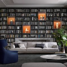 Swanky Decor With Blue & Grey Sofas